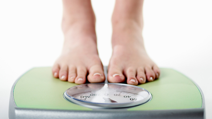 feet on scales for weight loss