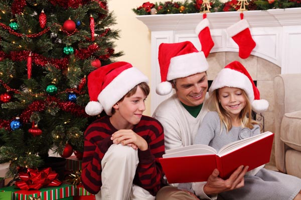 reading with kids for xmas